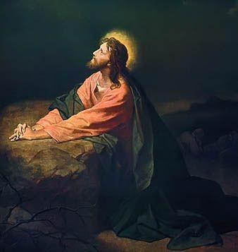Christ in garden